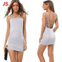 Fashionable Sexy Cocktail Dresses For Women Backless Sleeveless Mini Bodycon
