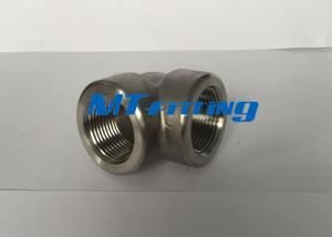 China F316 / 316L 3000LBS S32750 Duplex Steel 90 Degree Eblow Forged Fittings on sale