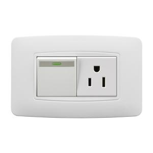 China Residential Electric Switch Socket 118T SERIES , Electrical Outlets And Switches on sale
