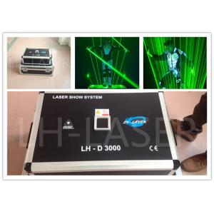 China Sharpy 3W Green ILDA Laser Light Dance Man Show , Dj Disco Stage Outdoor Laser Light on sale