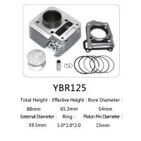 YBR125 for motorcycle cylinder kit with piston, piston ring,gasket, clip, pin