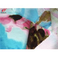Printed Nylon Spandex Fabric , Stretch Bathing Suit Warp Knitted Fabric