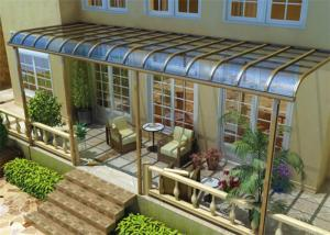 China Impact Resistance Aluminum Canopy Awnings Non - Yellowing For Balcony on sale
