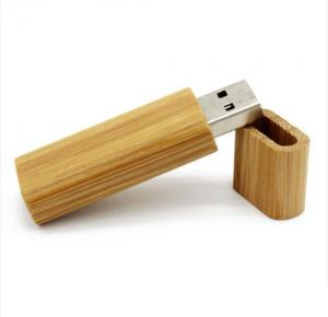 China Skinny Bamboo USB Flash Drive With Company Logo  ,  School Bamboo Usb Sticks 4gb 8gb 16gb on sale