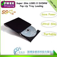 Wholesale USB 3.0 Tray loading Super Slim Portable External DVDRW /CD-RW Burner Drive