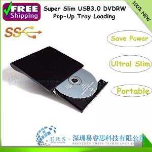 China Wholesale USB 3.0 Tray loading Super Slim Portable External DVDRW /CD-RW Burner Drive on sale