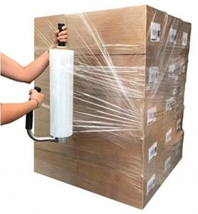 China Hand Bundling Stretch Film Extended Core Handle Stretch Film Wrap, Heavy Duty Shrink Wrap Roll Furniture, Moving, Box on sale