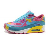 Nike Air Max 90 Tape Sky Blue Pink Womens Shoes