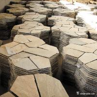 High Hardness Natural Slate Meshed Flagstone Paver Tile For Landscape / Garden