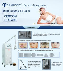 China 2019 1-100ms pulse width pigment removal / skin tightening fractional co2 laser machine on sale