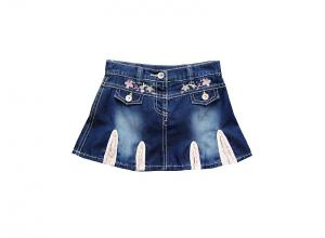 China 100% Cotton Denim Toddlers Skinny Jeans Skirt, Short Slimming Girls Pants on sale