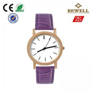China OEM / ODM Alloy Quartz Movt Watches With Purple Leather Band on sale