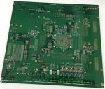 4 layers Rogers + FR4 PCB with gold plating edge and vias in plating