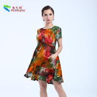 China Embroidery Floral Womens Midi Dress , Cotton Midi Summer Dress Latest Patterns on sale