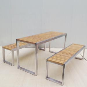 China SS304 Feet 2130mm Picnic Table Bench Set on sale