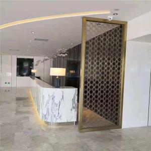 China Gold Metal Laser Cut Panels For Garden Fence Privacy Fence Metal Fence on sale