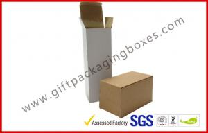 China E Flute Custom Cup Corrugated Paper Box , White / Brown Carton Packing Boxes in Market on sale