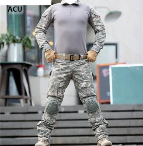 China Outdoor US Army Camouflage Military Combat Shirt Multicam Uniform ACU Tactical Clothes on sale