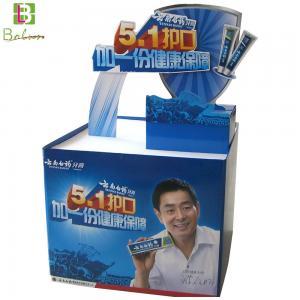 China Supermarket Commodity Floor Rack Standee Cardboard Pallet Display Stand on sale
