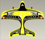 Los mini aeroplanos accionados por control remoto amarillos de 2CH RC con el propulsor ensillan, material del EPP