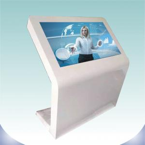 China Large Screen Touch Screen Digital Signage Landscape Standing Black Color For Indoor on sale