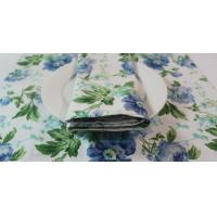 Elegance Flower Printed Square 45x30cm Dining Table Mats for Barbecuing / Baking