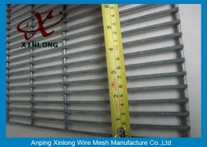 China PVC Coated Welded 4mm Heat Treated Metal Security 358 Fence With Barbed Wire on sale