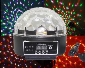 China 20W DMX Led Crystal Magic Ball Light Rgb Effect Disco Stage Light AC 110V - 250V on sale