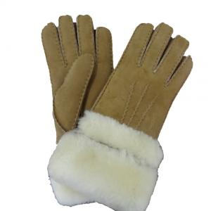 China Professional Factory Winter Cheap Sex Girls Leather Gloves with Fur cuff on sale