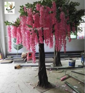 China UVG unique wedding ideas decorative small artificial wisteria blossom indoor silk trees for sale WIS019 on sale