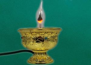 China Zinc die casting ghee lamps for buddhist ornaments on sale
