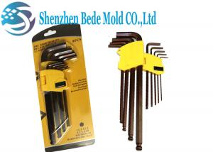 China Cr-Mo Steel Ball End Hex Key Screwdriver Hex Spanner Inch / Metric Extended Length on sale