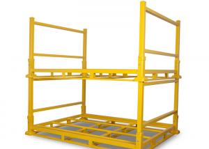 China Powder coating yellow color industrial warehouse storage stacking rack folding material storage racks on sale