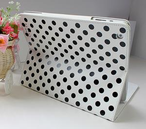 China New Case Leather Material Soft and Anti-skid Surface iPad Protective Cases Polka DOT on sale