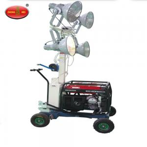 China 800w-4000w industrial portable mobile lighting tower with gasoline and diesel generator on sale
