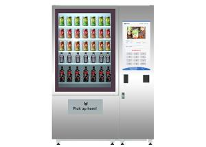 China ODM OEM vegetable fruit salad vending machine with elevator and cooler on sale