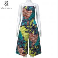 China Crop Top Off Shoulder African Print Jumpsuit Anti - Static Wear Comfortable on sale