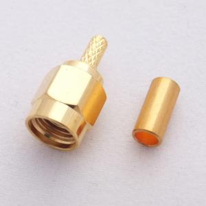 China SMA Male connector crimp type for LMR100, RG174, RG316 coaxial cable on sale