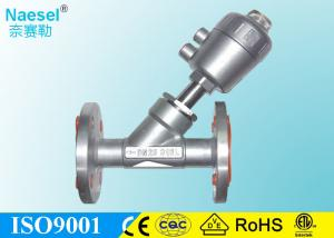 China Sus316 Cf8m Angle Seat Valve Piston Actuated Structure Close Slowly Anti Hammer on sale