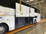LHD/RHD Cummins 375HP Euro5 51+2 Seats Luxury Coach Bus YBL6128SD for Chile