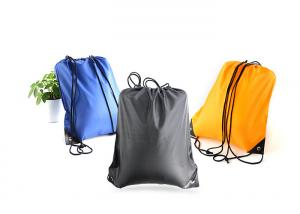 China Fold Personalized Lightweight Drawstring Bag Backpack Silk Screen Printing on sale
