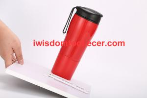 China Spill Free Coffee Mug with Magic Sucker Innovative Push Not Pour Travel Coffee Cup with Splash Proof on sale