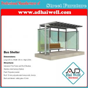 China Good Design Public Street Furniture Bus Shelter Advertising Panel on sale