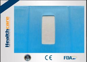 China EO Dispoable Surgical Drapes 55g Impregnated Cloth and PE film With Square Hole Without Tape on sale
