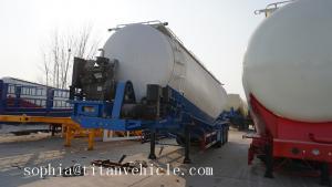 China TITAN Heavy duty used bulk cement tanker truck,3 axle 50cbm cement bulker carrier trailer , used cement tanker on sale