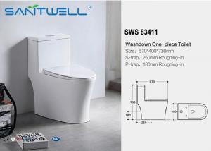 China Ceramic bathroom ware S trap single unit toilet , single piece wc on sale