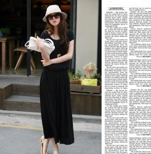 China 2014 summer fashion simple garland one-piece dress gentlewomen one-piece dress on sale