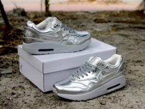 China Nike airmax 90 & 1 SP liquid gold running shoes liquid silver sneakers for men/women size on sale