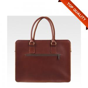 China Messenger Cowhide Hard Art Leather Laptop Briefcase Notebook Carrying Case Luxury Handbag on sale