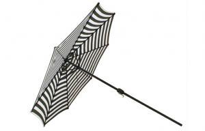 Durable Outdoor Patio Parasol Umbrellas Green White Stripe For Bar
